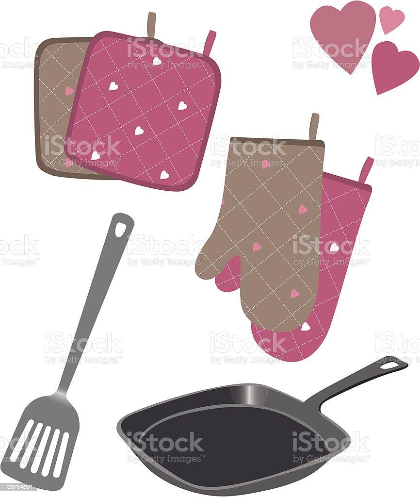 Lovely kitchen utensils royalty-free stock vector art