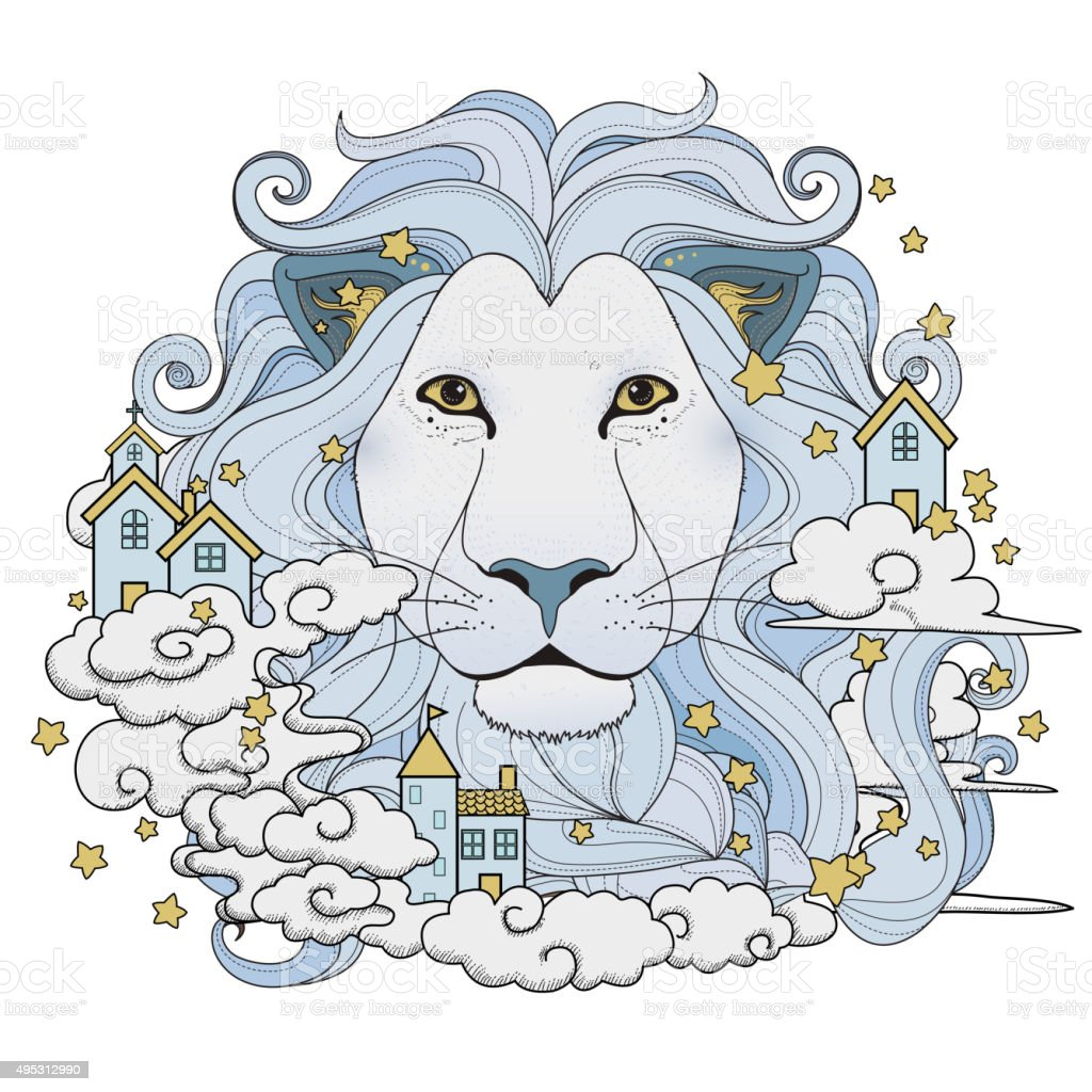 Lovely Lion Coloring Page Stock Vector Art & More Images of 2015 ...