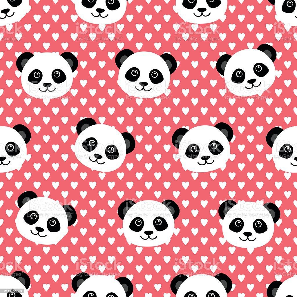 Lovely Panda Wallpaper Royalty Free Stock Vector Art Amp More Images