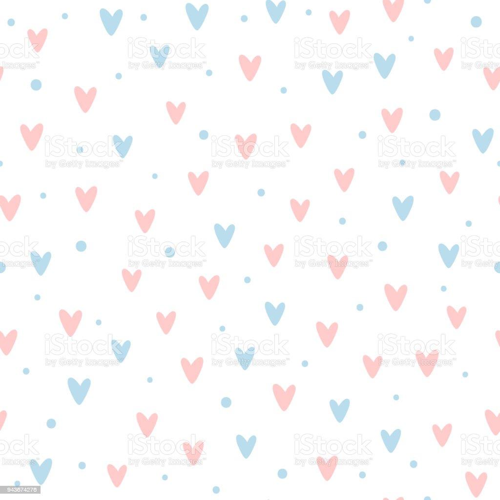 Patrón Transparente Romántico Encantadora Repetidos Corazones Y ...