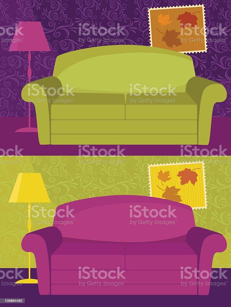 Lovely Sofa royalty-free stock vector art