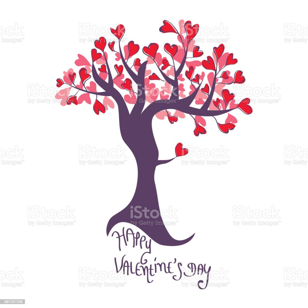 Lovely Valentines tree royalty-free lovely valentines tree stock vector art & more images of art