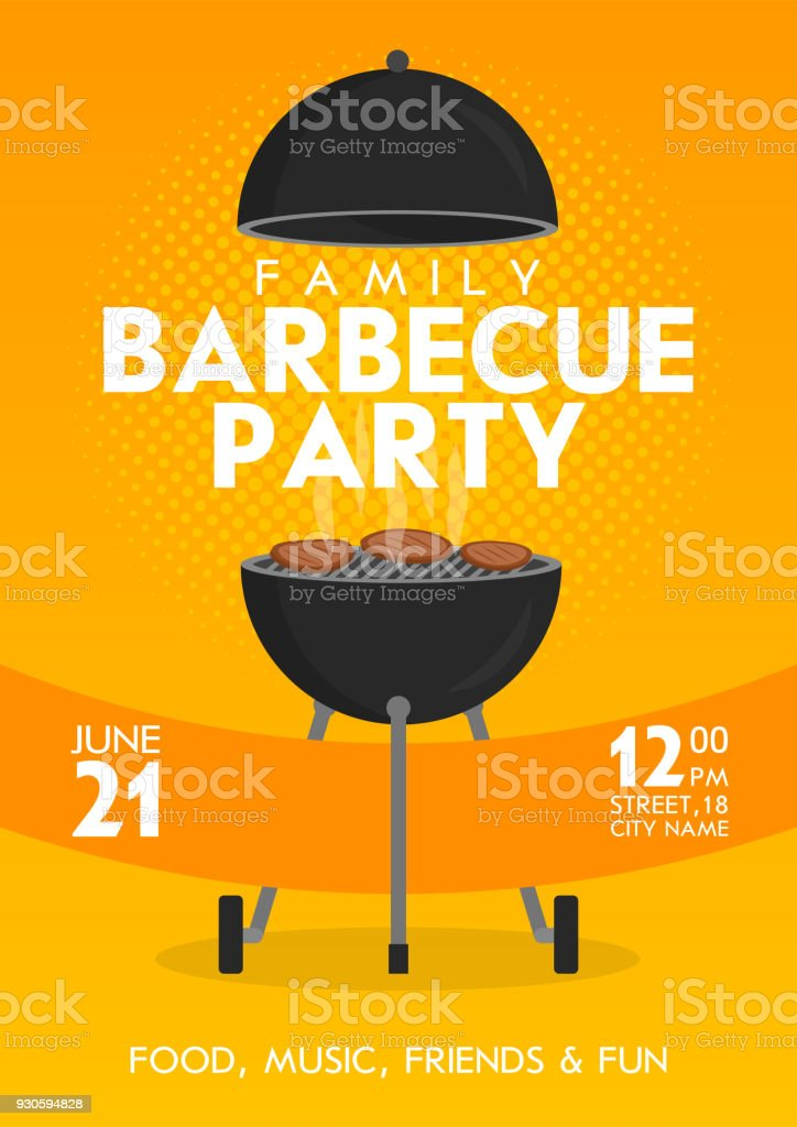 Lovely vector barbecue party invitation design template set trendy lovely vector barbecue party invitation design template set trendy bbq cookout poster design royalty stopboris Gallery