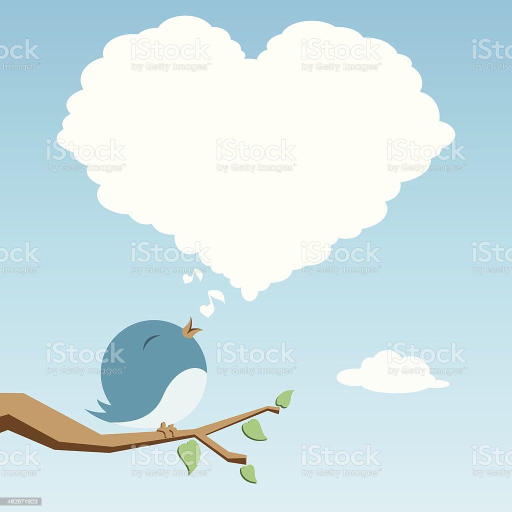 Lover bird vector art illustration