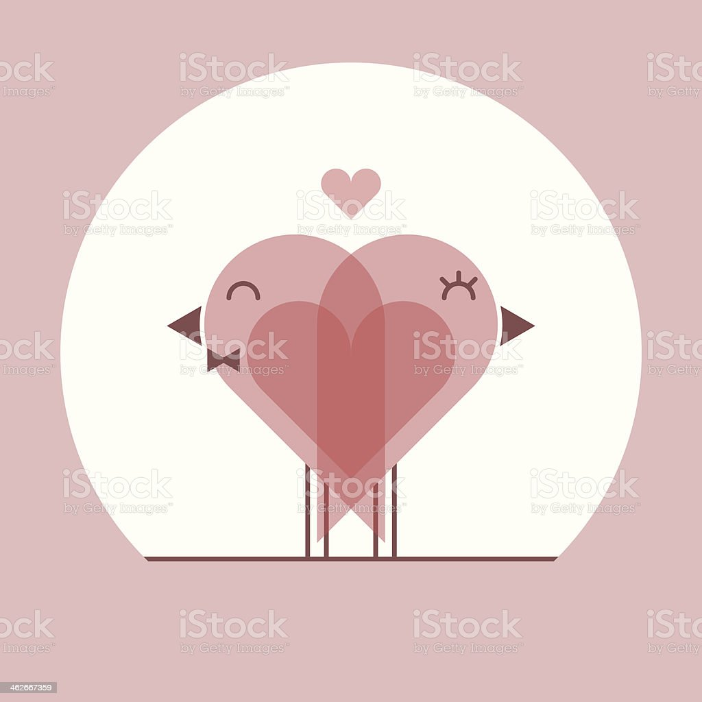lover birds hugging royalty-free stock vector art
