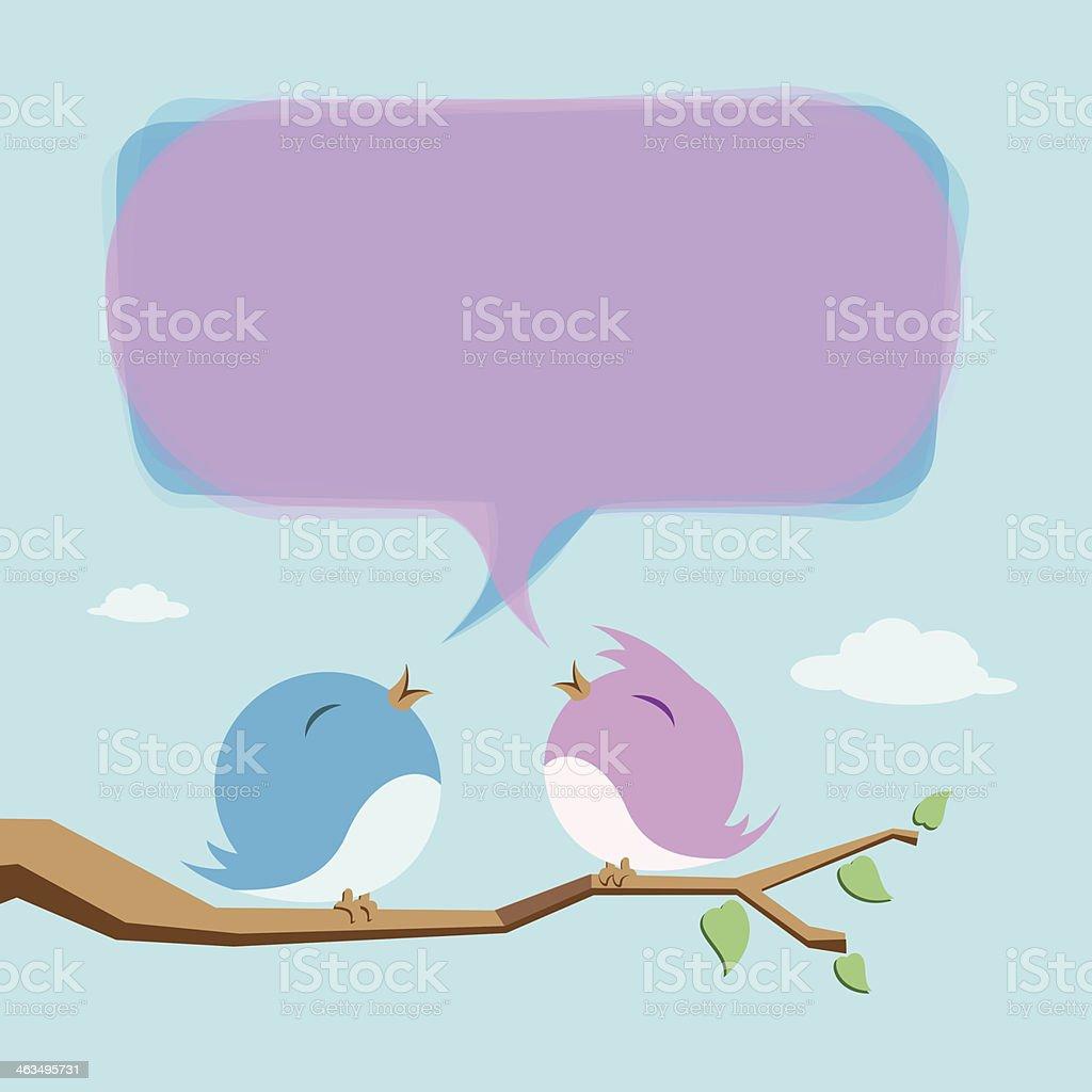 Lover Birds vector art illustration