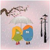 Lover in the rain