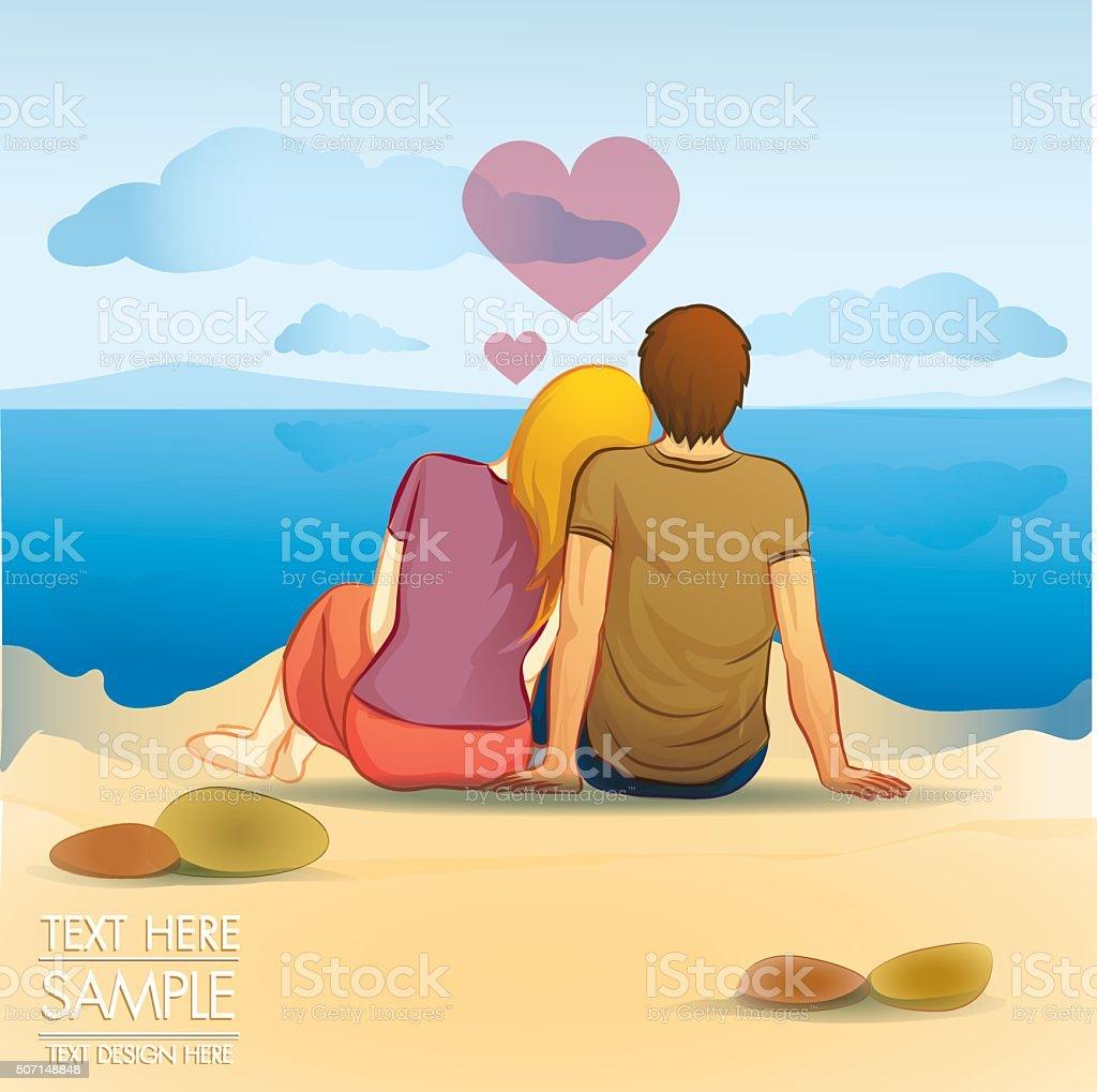 lover romance vector art illustration