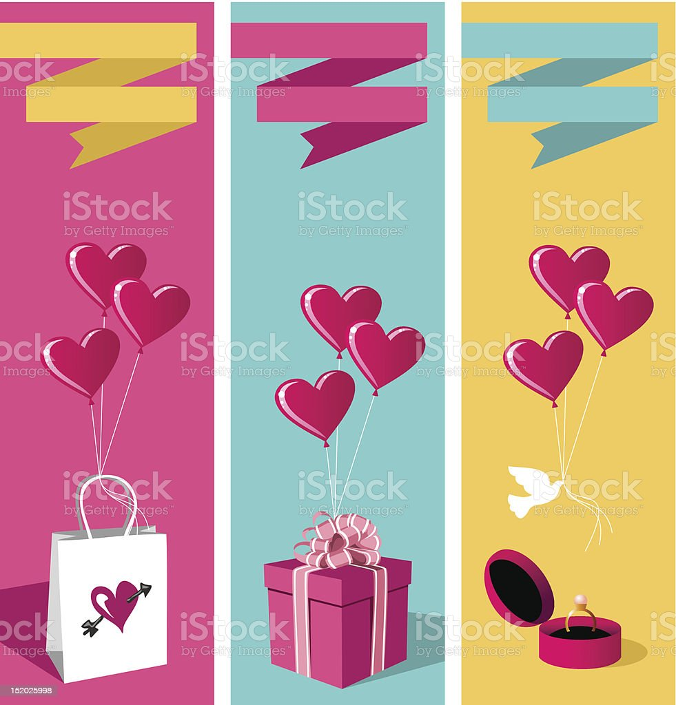 Lovers day banner set royalty-free stock vector art