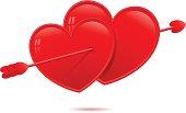 Lovestruck Hearts -- vector