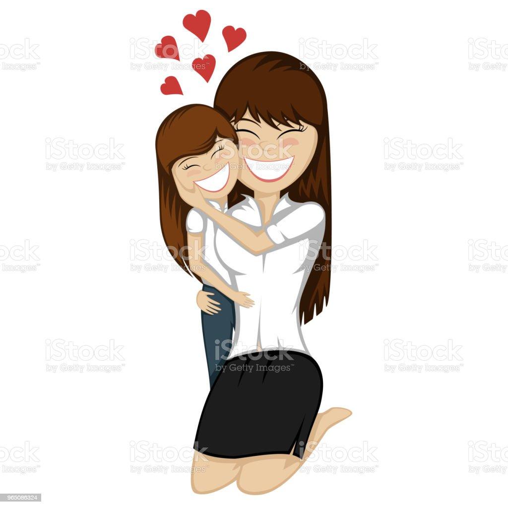 Lovin' mommy forever lovin mommy forever - stockowe grafiki wektorowe i więcej obrazów całować royalty-free