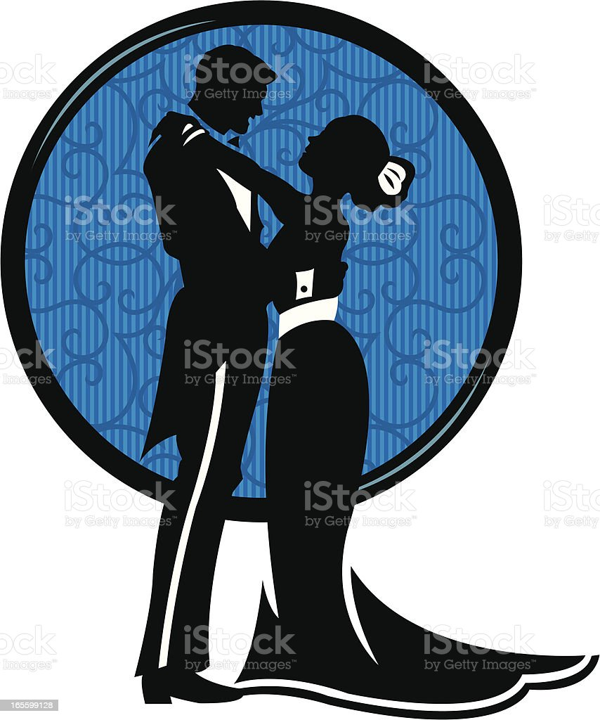 Loving Couple, Hugging - Embrace vector art illustration