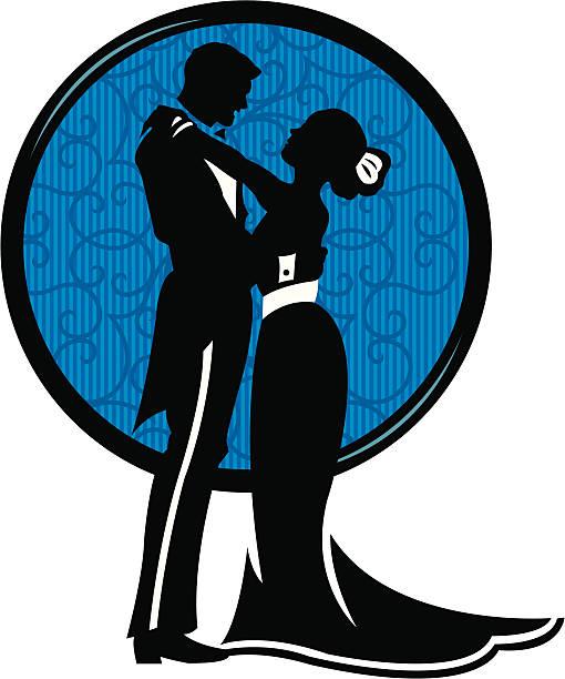 ilustrações, clipart, desenhos animados e ícones de casais apaixonados, abraçando-abraçar - baile de graduação