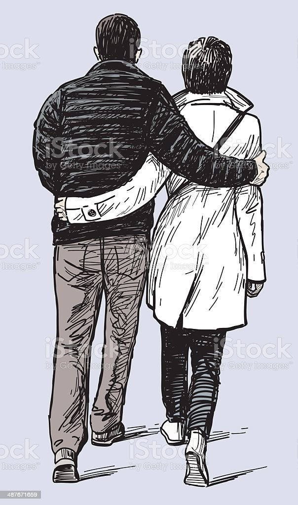 loving couple royalty-free stock vector art