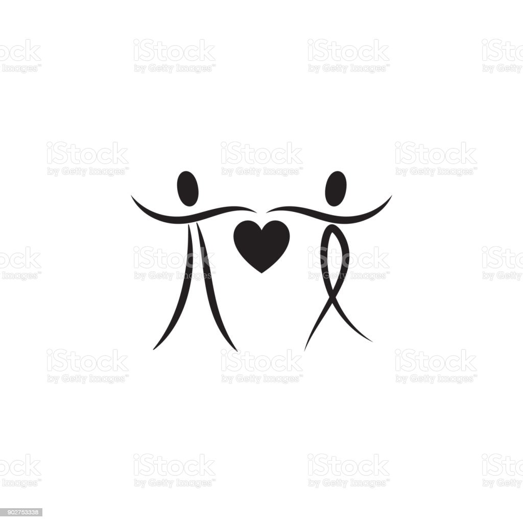 Loving Couple With Heart Icon Valentines Day Elements Premium