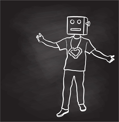 Loving Digital Icon Costume Chalkboard