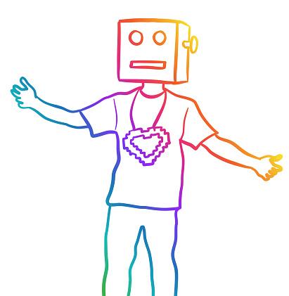 Loving Digital Icon Costume Rainbow