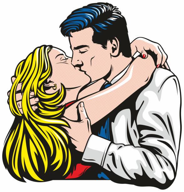 Loving Embrace vector art illustration