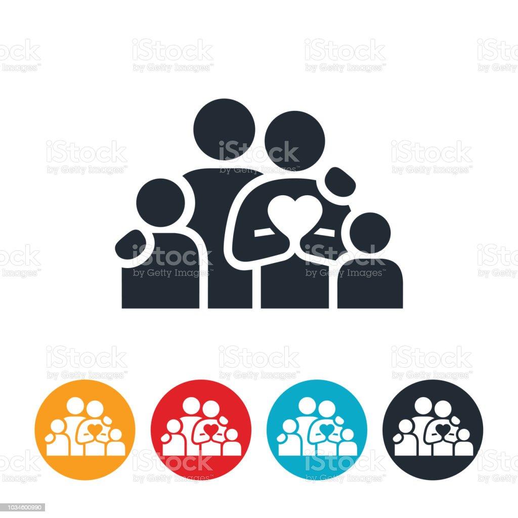 Loving Family Icon vector art illustration