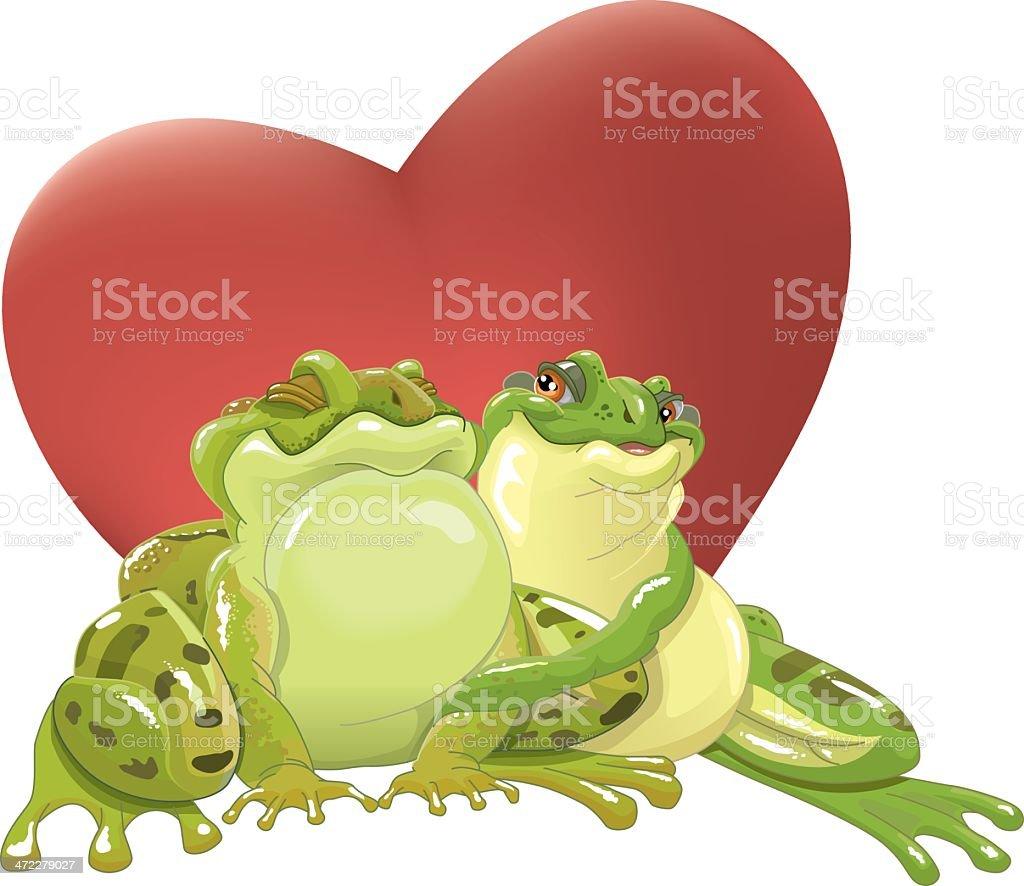 loving frogs vektorkonstillustration