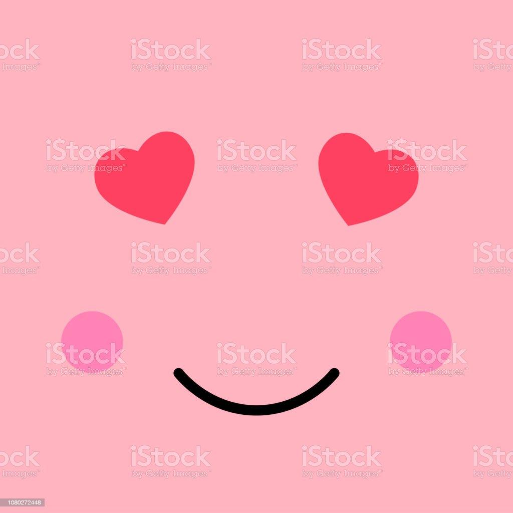 Loving Funny Emotion Emoji Face Smiley Face On Pink
