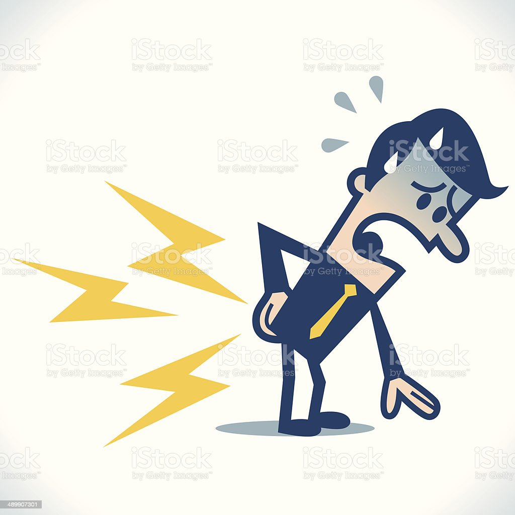 Low back pain vector art illustration