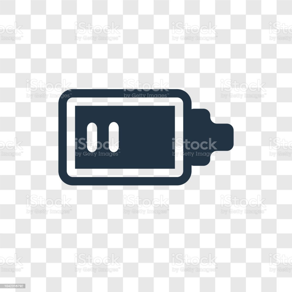 low battery vector icon isolated on transparent background low battery transparency logo design stock illustration download image now istock https www istockphoto com vector low battery vector icon isolated on transparent background low battery transparency gm1042316792 279053086
