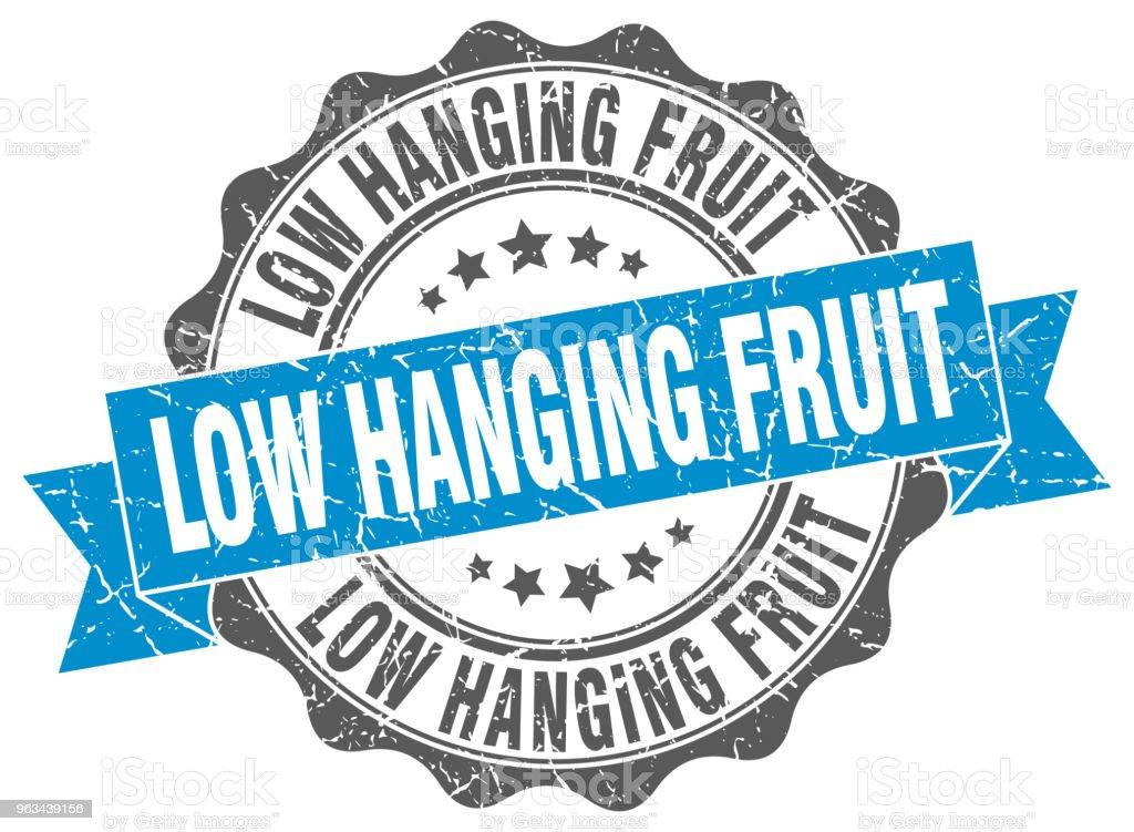 nisko wiszące znaczki owocowe. znak. foka - Grafika wektorowa royalty-free (Bez ludzi)