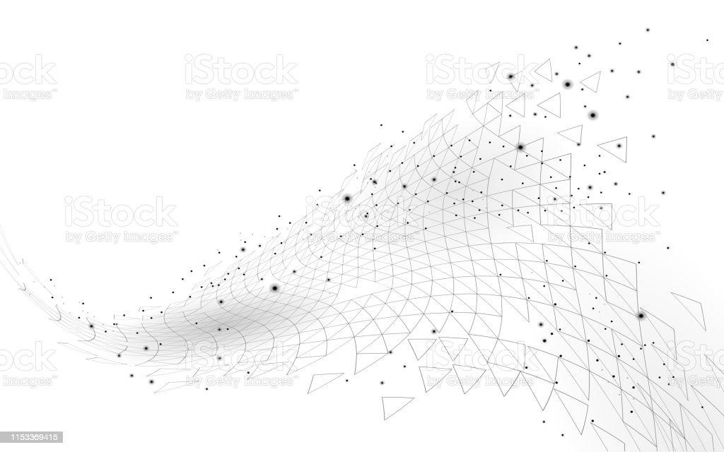 Ilustración De Bajo Poly 3d Espacio Geométrico Poligonal