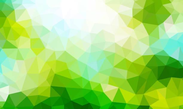 stockillustraties, clipart, cartoons en iconen met lage poly groene achtergrondkleur - green background