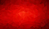 low poly background red color