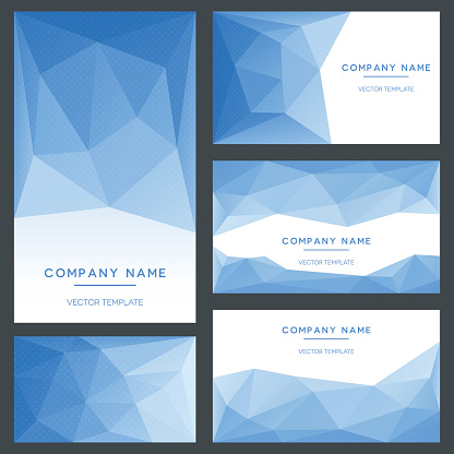 Low Poly Business Cards Templates