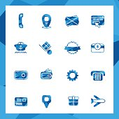 Low poly Commercial icon set