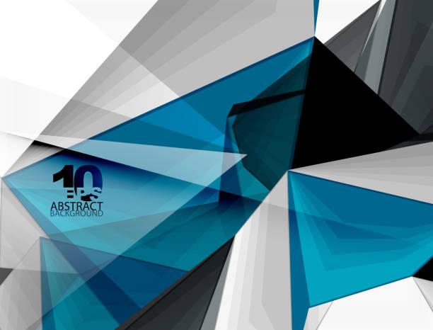 Low poly geometric 3d shape background vector art illustration