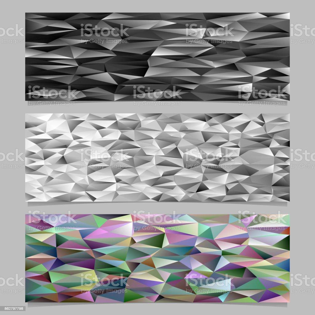 Lowpoly Unregelmassige Dreieck Fliesen Mosaik Banner Vorlage