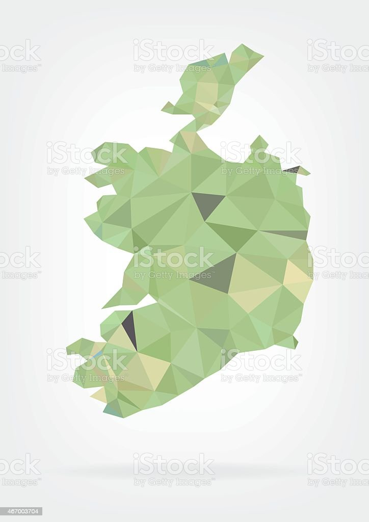Low Poly Map of Ireland