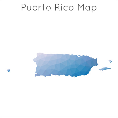 Low Poly map of Puerto Rico.