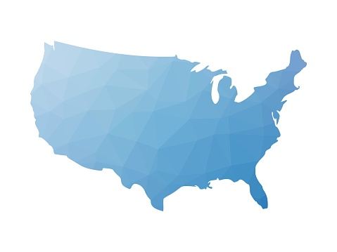 Low poly map of USA