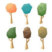 Low poly modeling trees