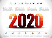 Low Poly New Year 2020 To Do List