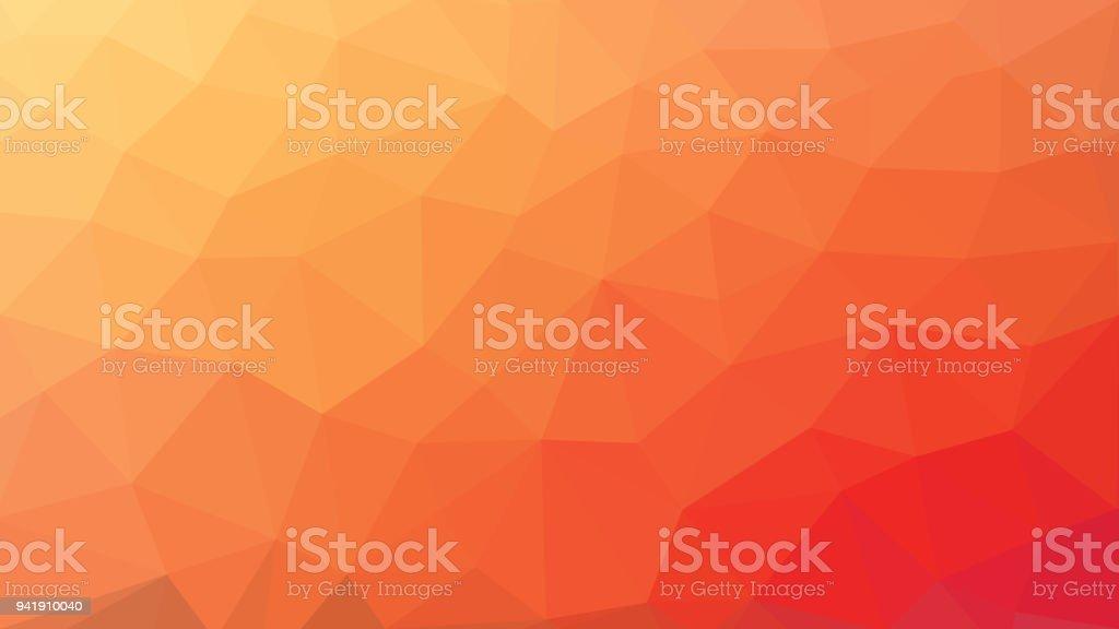 low poly orange red gradient background vector art illustration
