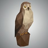 Low poly owl.