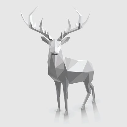 Low Poly Stag Stock Illustration - Download Image Now