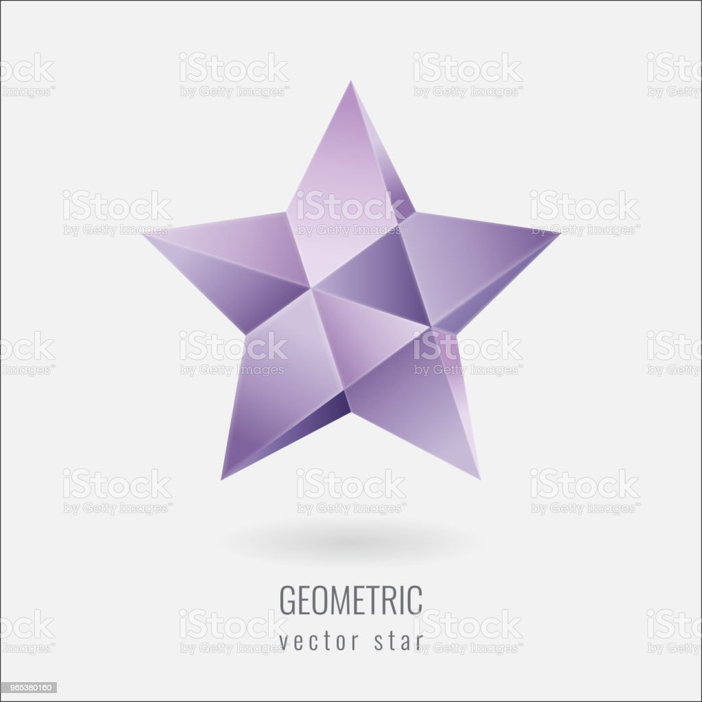 Low poly star logotype royalty-free low poly star logotype stock vector art & more images of argentina