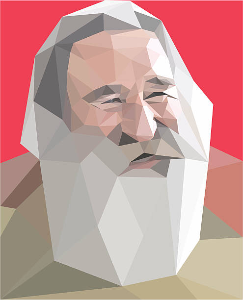 """low poly"" style portrait - old man hair stock illustrations, clip art, cartoons, & icons"