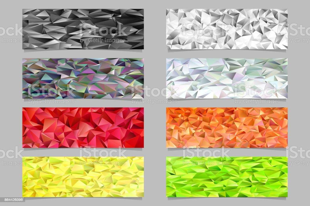 Lowpoly Dreieck Fliesen Mosaik Banner Vorlage Formularsatz Trendige