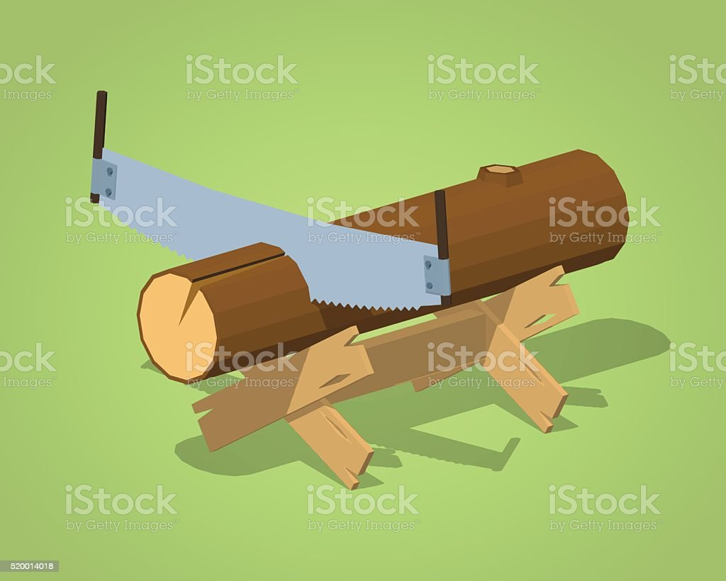 Strange Low Poly Work Bench With The Log And Handsaw Stock Beatyapartments Chair Design Images Beatyapartmentscom