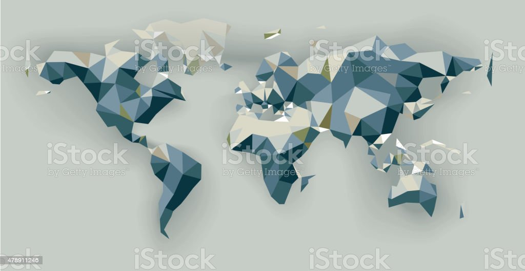 Low poly world map stock vector art more images of 2015 478911246 low poly world map royalty free low poly world map stock vector art amp gumiabroncs Image collections