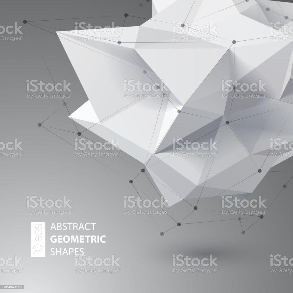 Low polygon geometry shape. Vector illustration vector art illustration