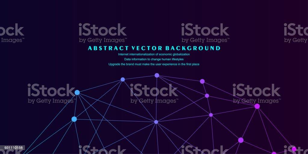 Düşük çokgen kafes küre, yüksek teknoloji vektör arka plan illüstrasyon - Royalty-free Akıllılık Vector Art